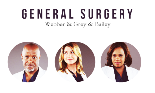 Doctors of Seattle Grace Mercy West / Grey Sloan Memorial specialities