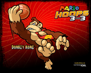 Donkey Kong Mario Hoops 3-on-3 Background