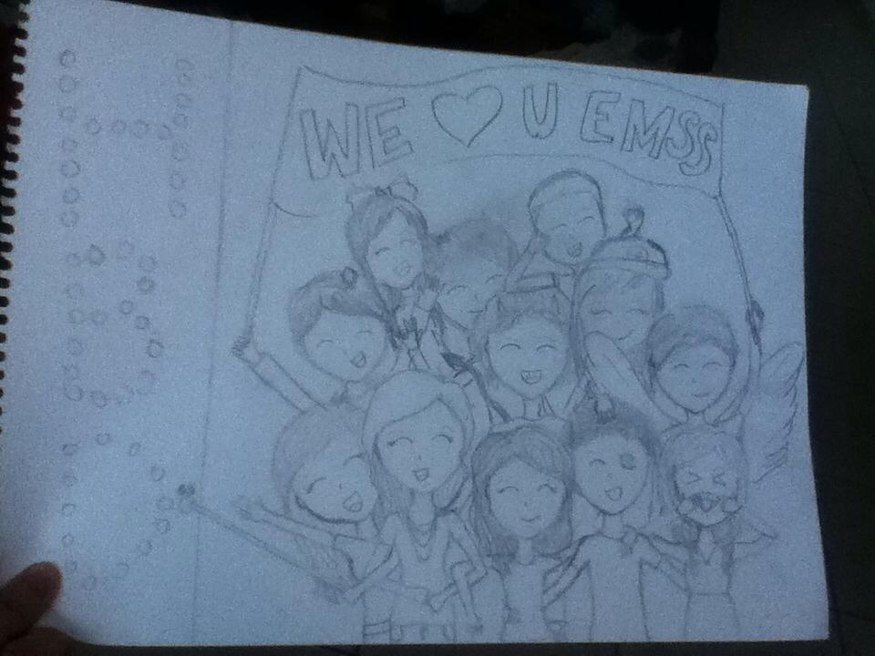 Drawing I did for Emss birthday