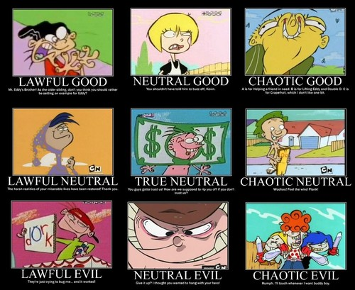 Ed, Edd and Eddy wallpaper containing a stained glass window titled EEnE Alignment Chart