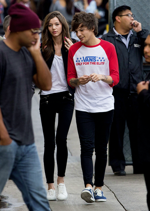 Eleanor and Louis arriving at Jimmy Kimmel