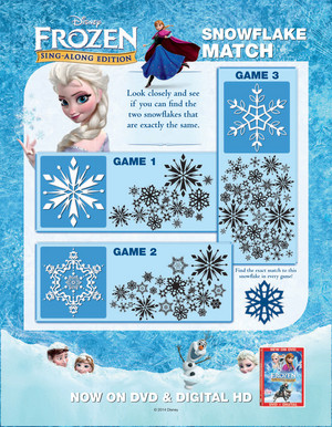 Elsa's Snowflake Matching Game
