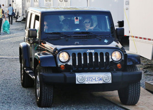 Emily and Willa leaving Arrow's set on September 30th, 2014.