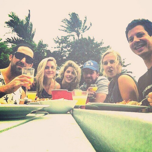 Emily Bett Rickards wallpaper called Emily and Friends in Oahu, Hawaii