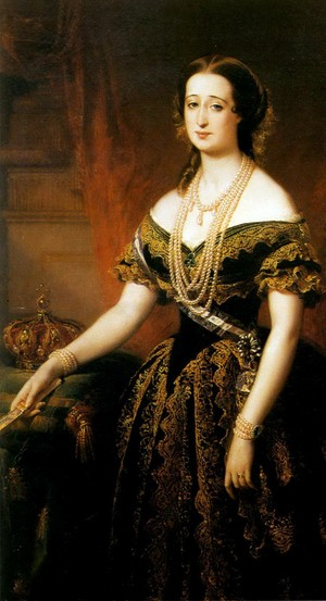 Empress Eugenie by Edouard Louis Dubufe
