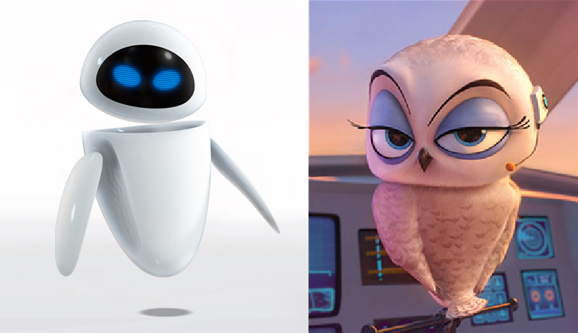 Eve from Wall-E and Eva from POM Movie