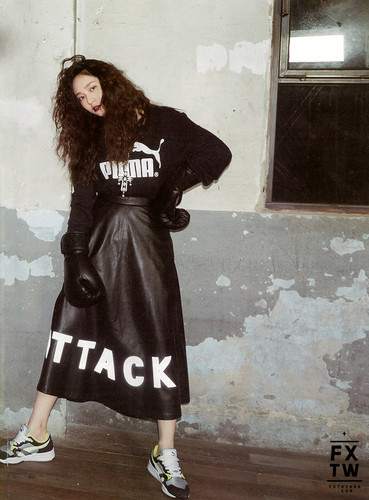Krystal Jung 바탕화면 possibly containing a trench coat, a 모피 coat, and an overgarment entitled 에프엑스 Krystal High Cut 2014