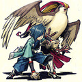 Falkner and Pigeot - pokemon photo