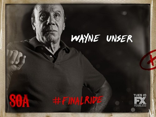 Sons Of Anarchy wallpaper possibly containing a sign titled Final Ride - Unser