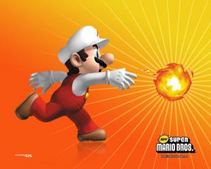 api, kebakaran Mario Background