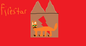 Firestar and his logo