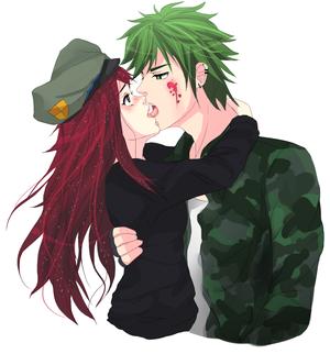 Flippy and Flaky kissing