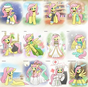 Fluttershy's outfits
