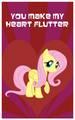 Fluttershy valentine card