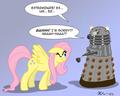 Fluttershy vs Dalek