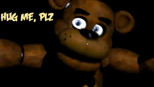 Five Nights at Freddy's fond d'écran entitled Freddy wants a hug