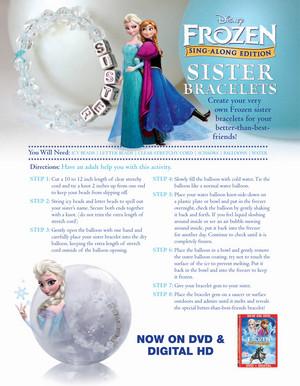La Reine des Neiges Sister Bracelets