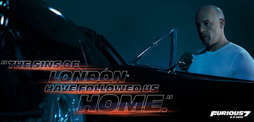Fast and Furious wallpaper possibly containing a concert entitled Furious 7 - Dom