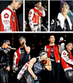 G-dragon superiore, in alto badges baseball hoodie