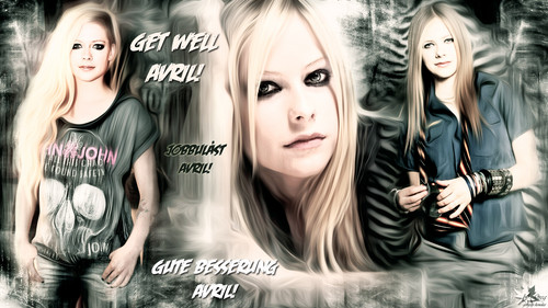 Avril Lavigne karatasi la kupamba ukuta with a portrait titled Get Well Avril!