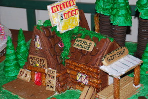 Gingerbread Mystery Shack Close Up