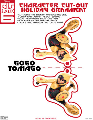 Go Go Tomago Holiday Ornament Cut-out