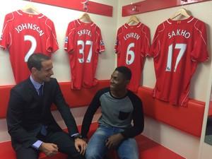Gregoire Akcelrod and Joseph Akono Visit Liverpool Football Club