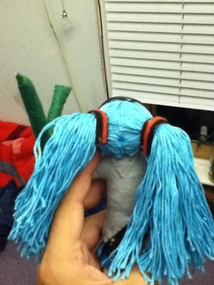Hatsune Miku String Doll back view