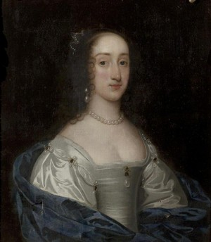 Henrietta Maria of France attributed to Sir Anthonis transporter, van Dyck