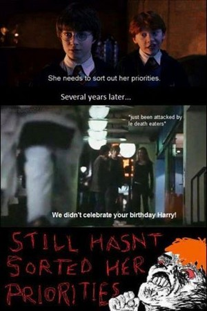 Hermione's priorities