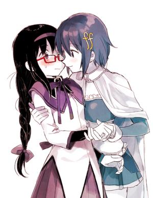 Homura and Sayaka