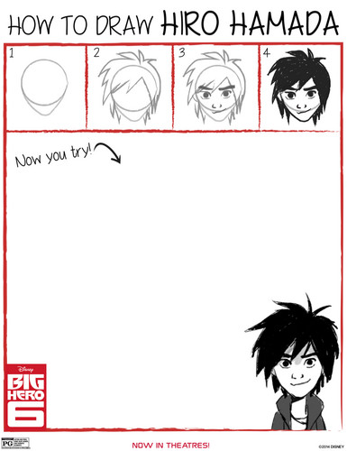 Big Hero 6 Hintergrund with Anime entitled How to draw Hiro Hamada
