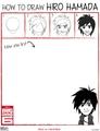 How to draw Hiro Hamada