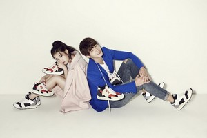 IU and Song Jaerim for SBENU shoes.