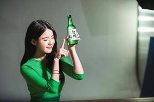 IU just endorsed a brand of soju