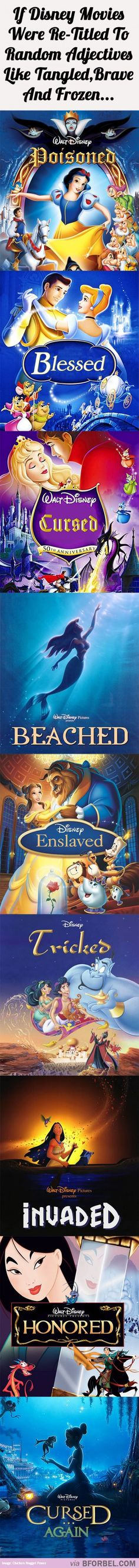 If DP cine Were Re-Titled to misceláneo Adjectives (Tangled, Brave, Frozen)