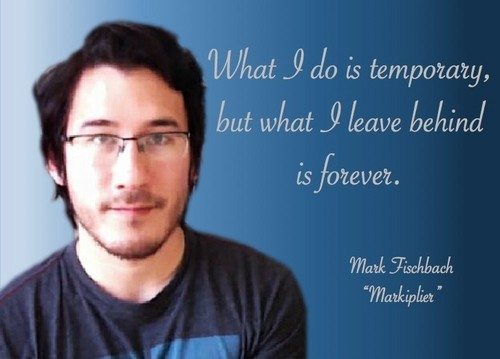 Markiplier پیپر وال containing a portrait called Inspirational Markiplier Quote