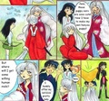 "Inukimi's visit (2/3) - ""I offer my services, pretty lady"" - inuyasha fan art"