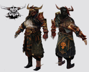 Iron ng'ombe concept art in The Art of Dragon Age: Inquisition