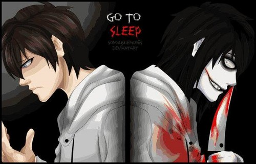Jeff the killer Обои called JTK before and after