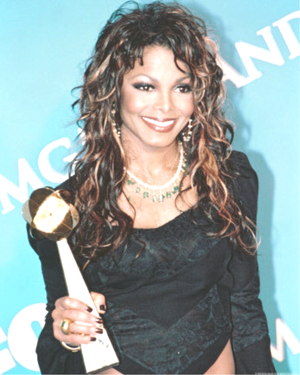 Janet Jackson with Award