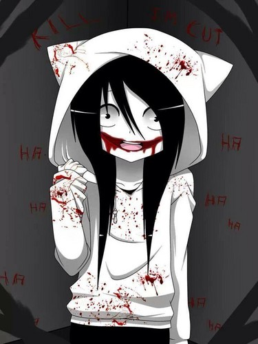 Jeff the killer hình nền possibly with anime called Jeff as a neko