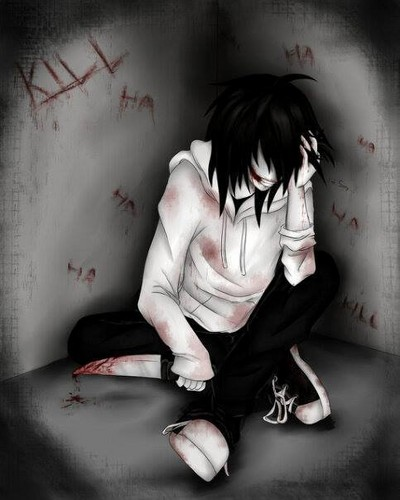 Jeff the killer Обои possibly containing bare legs, a hip boot, and a sign called Jeff the killer