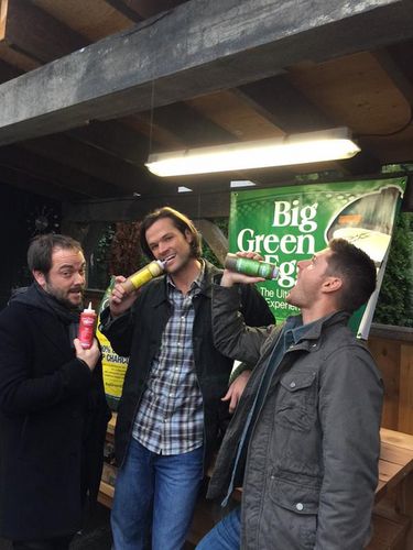 Supernatural wallpaper probably containing an ice lolly entitled Jensen, Jared and Mark