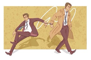 Jimmy Novak and Castiel