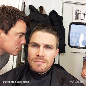 John Barrowman and Stephen Amell