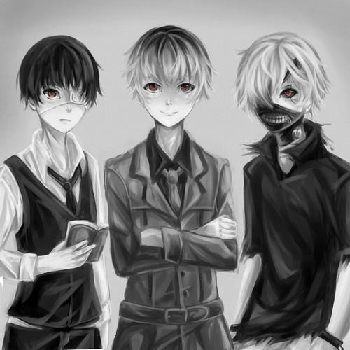Tokyo Ghoul kertas dinding called Kaneki, Haise, Shiro Kaneki