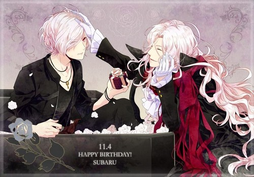 Diabolik Lovers پیپر وال entitled Karlheinz gives a gift to Subaru