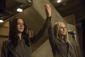 Katniss and President Coin