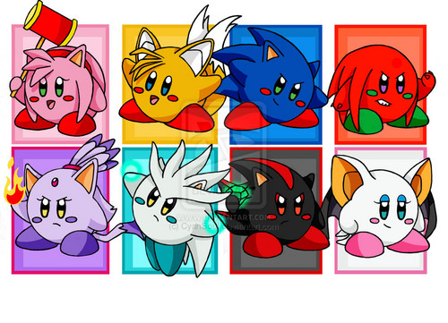 Sonic the Hedgehog wallpaper with anime entitled Kirby Sonic team